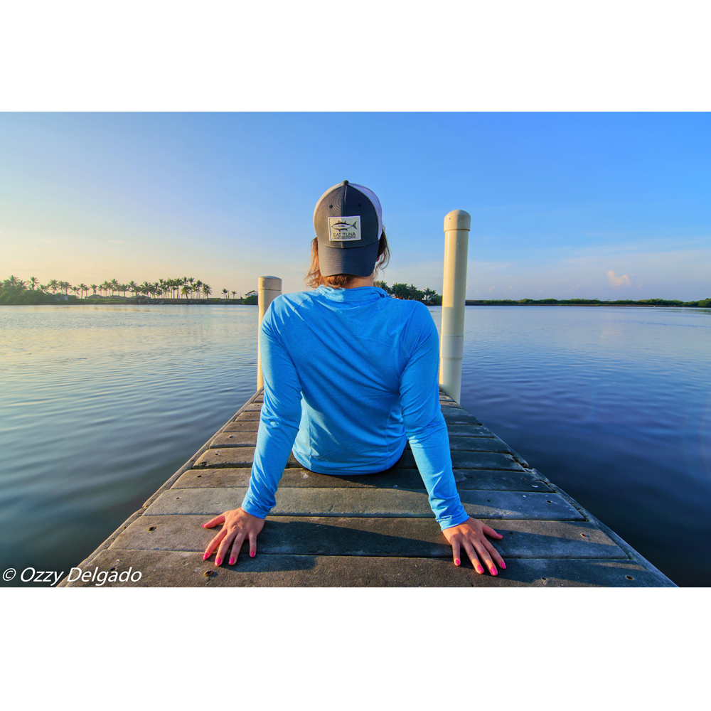 Watching the water from a dock in Florida