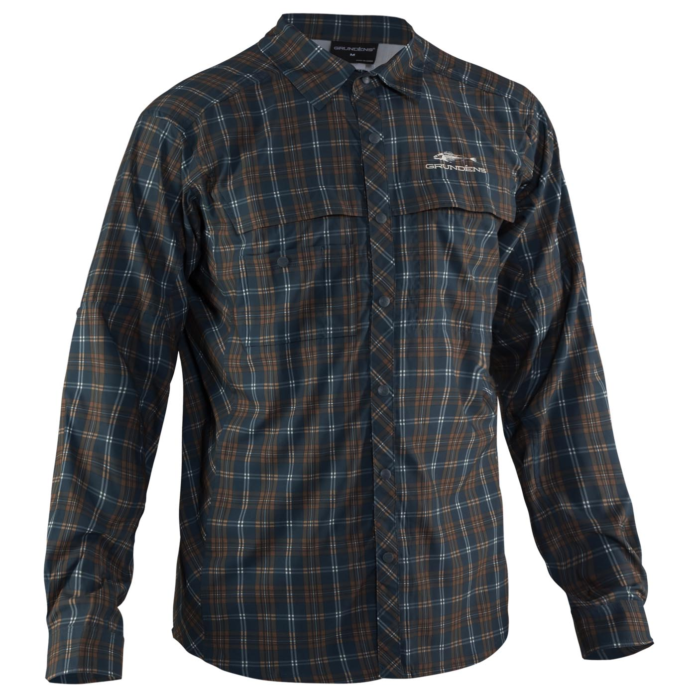 Fly Bridge Long Sleeve Shirt Dark Slate Front View