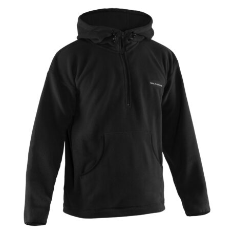 Bering Sea Fleece Pullover Black Front View