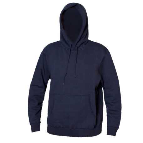 Blank Hooded Sweatshirt Navy Front View