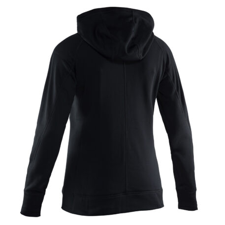 Womens Maris Hooded Sweatshirts Black Back View