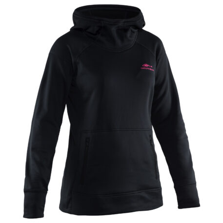 Womens Maris Hooded Sweatshirts Black Front View