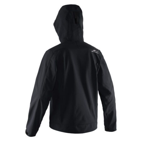 Midway Hooded Softshell Jacket Black Back View