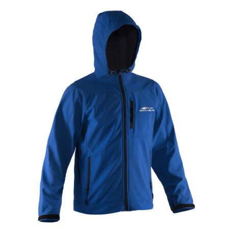 Midway Hooded Softshell Jacket Blue Front View