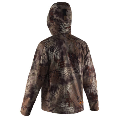 Midway Hooded Softshell Jacket Kryptec Camo Back View