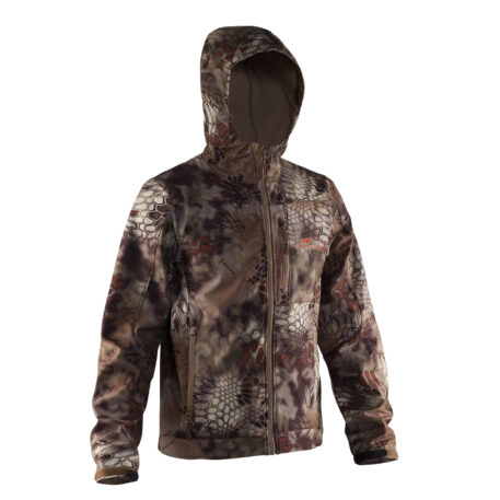 Midway Hooded Softshell Jacket Kryptec Camo Front View
