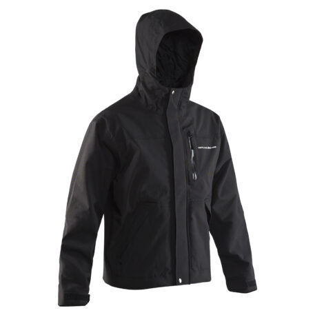 Weather Boss Hooded Jacket Black Front View