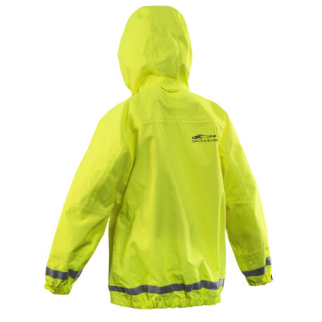 Weather Watch Jacket Juniors Hi-Vis Yellow Back View