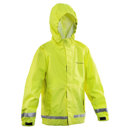 Weather Watch Jacket Juniors Hi-Vis Yellow Front View
