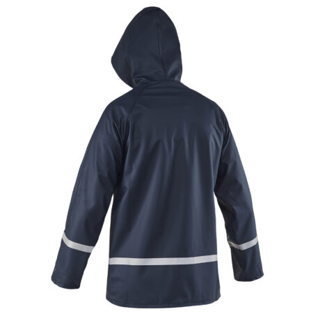 Zenith Hooded Jacket Navy Back View