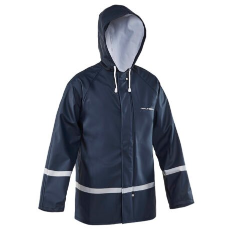 Zenith Hooded Jacket Navy Front View