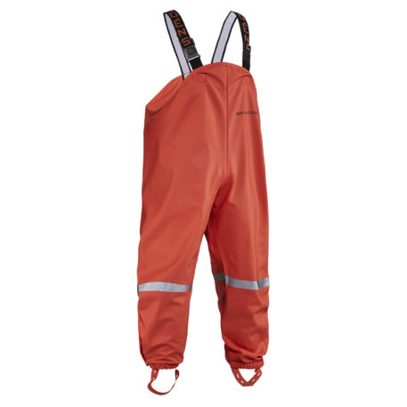 Zenith Bib Trousers Orange Front View