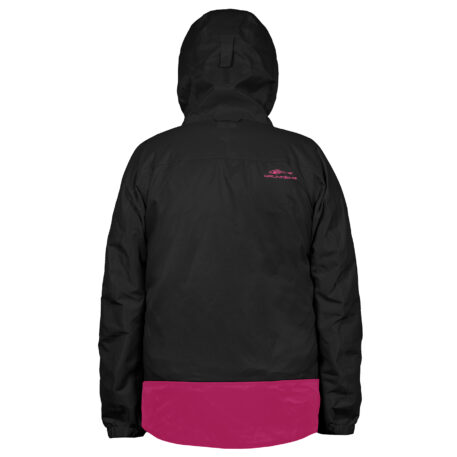 Womens Weather Watch Jacket Black Back View