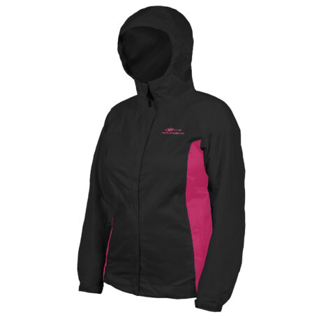 Womens Weather Watch Jacket Black Front View