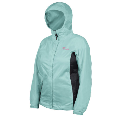 Womens Weather Watch Jacket Blue Front View