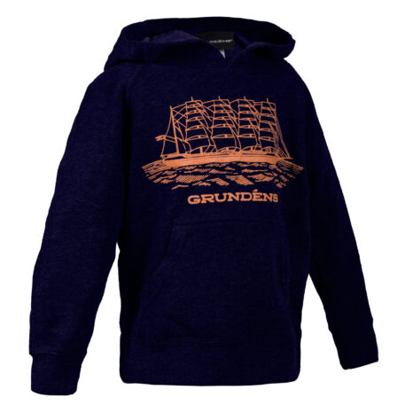 Ship Logo Youth Hooded Sweatshirt Front View