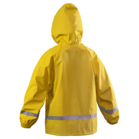 Zenith 293 Hooded Parka Yellow Back View